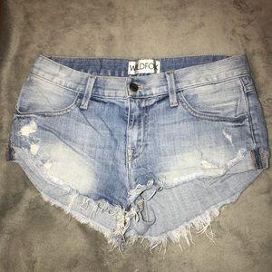 Wild fox jean shorts